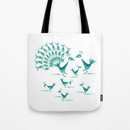 Peacock Family Tote Bag
