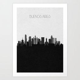 City Skylines: Buenos Aires Art Print