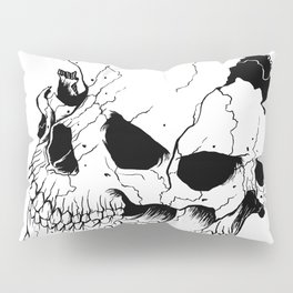 Skull (Fragmented and Conjoined) Pillow Sham