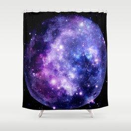 Galaxy Planet Purple Blue Space Shower Curtain