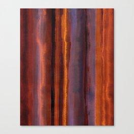 Wildfire Watercolor Stripe Canvas Print