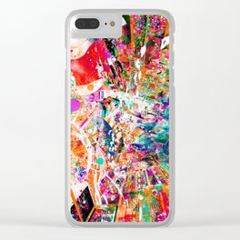 Psychedelic World Clear iPhone Case