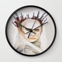 thranduil Wall Clocks featuring Thranduil by Olivia Nicholls-Bates