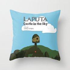 Laputa Castle in the Sky Throw Pillow