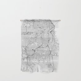 San Francisco White Map Wall Hanging