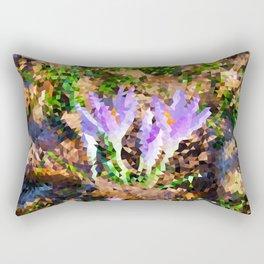 Signs of Spring - Crocus Low Poly Rectangular Pillow