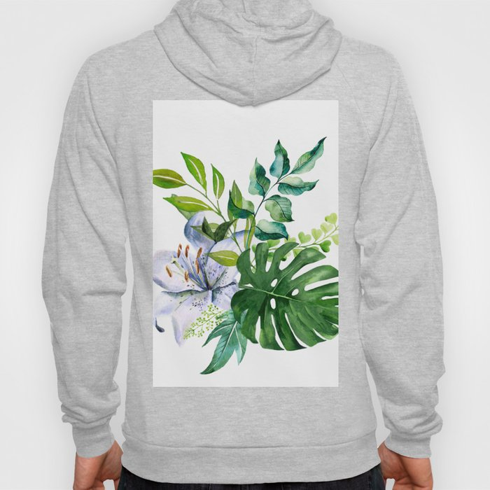 Flower and Leaves Hoody