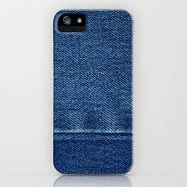 Blue Jean Texture V4 iPhone Case