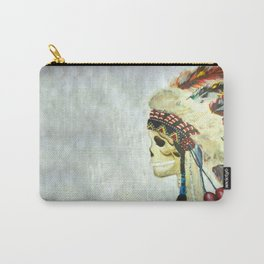 INDIAN WITH HEAD DRESS Carry-All Pouch