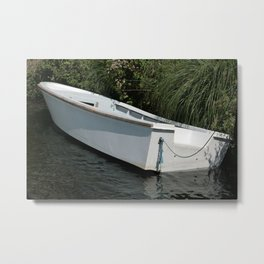 Boat Next to the Shore Metal Print