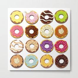 Vector Donuts Metal Print