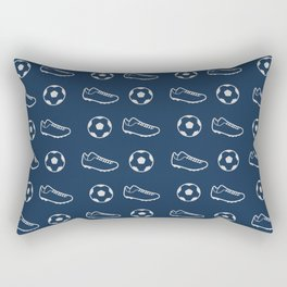 The Soccer Pattern Rectangular Pillow