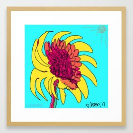 Yes. This is a flower, child. Framed Art Print