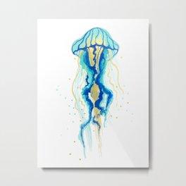 Neptune's Jellyfish Metal Print