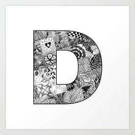 Cutout Letter D Art Print