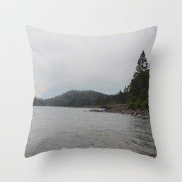 Lake Beach Throw Pillow