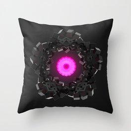 Graphite flower Throw Pillow