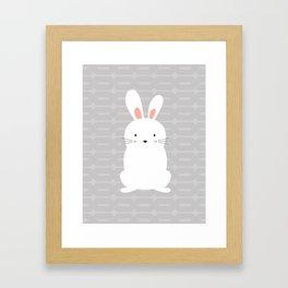 Jumpy the bunny Framed Art Print