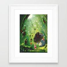 Totoro Christmas Framed Art Print