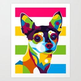 Colorful Chihuahua Art Print