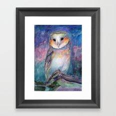 Owl Guardian of Memories Framed Art Print