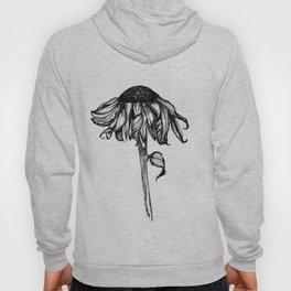 Wilted Flower Ink Drawing Hoody