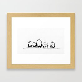 Entourage Framed Art Print