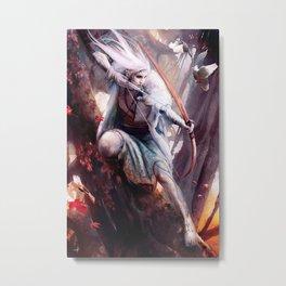 Elven Archer Metal Print