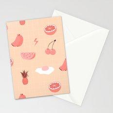 Monochrome fruit (orange) Stationery Cards