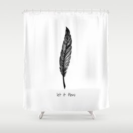 Feather and Quote no.1 Shower Curtain