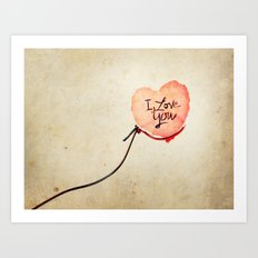 Love heart Message Art Print