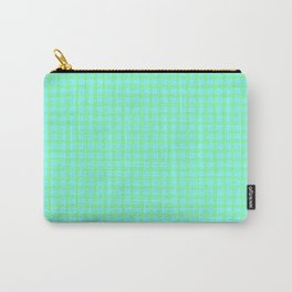 Green On Blue Plaid Carry-All Pouch