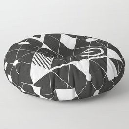 Black and white graphic Floor Pillow