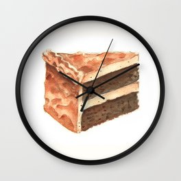 Chocolate Cake Slice Wall Clock