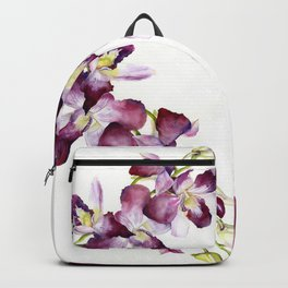 Radiant Orchids: Magenta Dendrobiums Backpack
