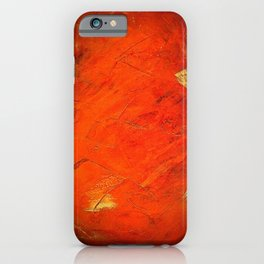 Italian Style Orange Stucco - Adobe Shadows iPhone Case