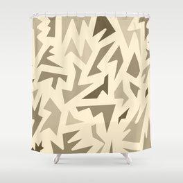 SEPIA JIG JAG Shower Curtain