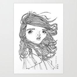 typhoon hair Art Print
