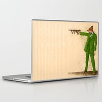 gangster Laptop & iPad Skins featuring Gangster Fox by Ichorteeth