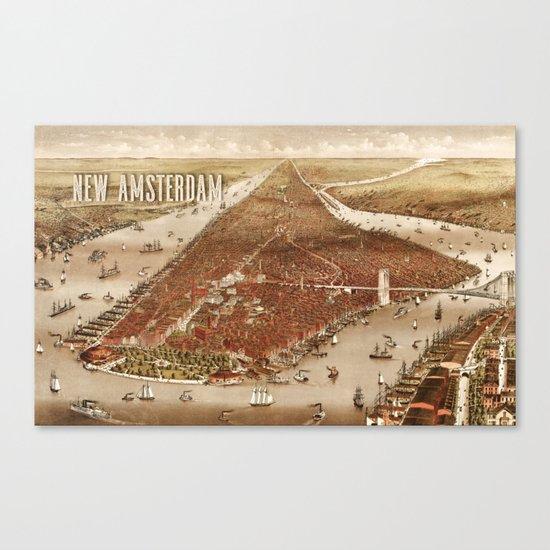 New Amsterdam - 1880 Canvas Print