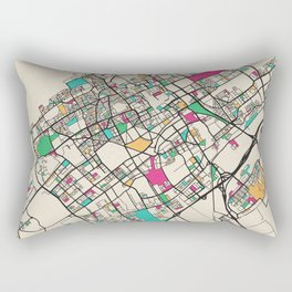 Colorful City Maps: The Hague, Netherlands Rectangular Pillow