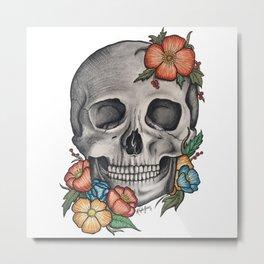 Spanish Skull Metal Print