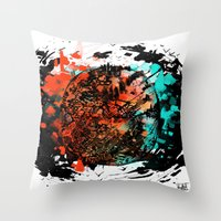mars Throw Pillows featuring Mars by DizzyNicky