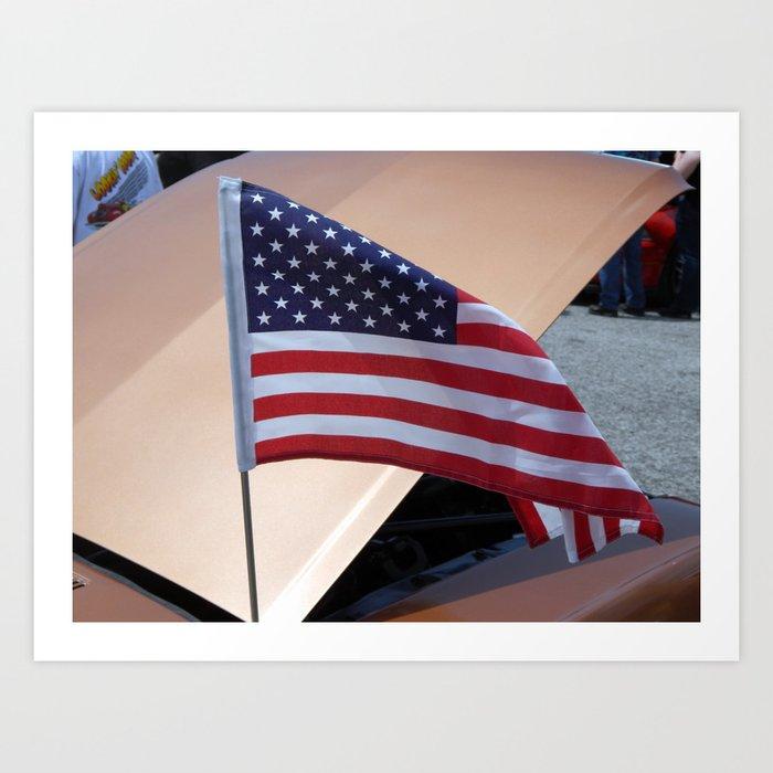Flying Flag Art Print