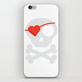 Skull Heart Valentines Day Pirate Flag iPhone Skin