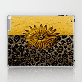 Animal Print Brown and Gold Animal Medallion Laptop & iPad Skin