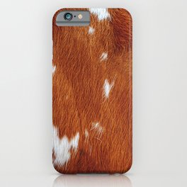 Tan Cowhide Smooth Texture iPhone Case