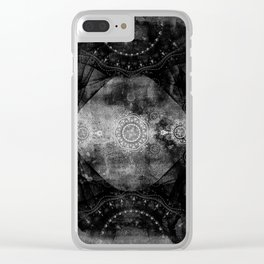a shouting ghost moves across the sky Clear iPhone Case