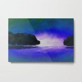 Painting of a minimalist landscape in surreal colors Metal Print