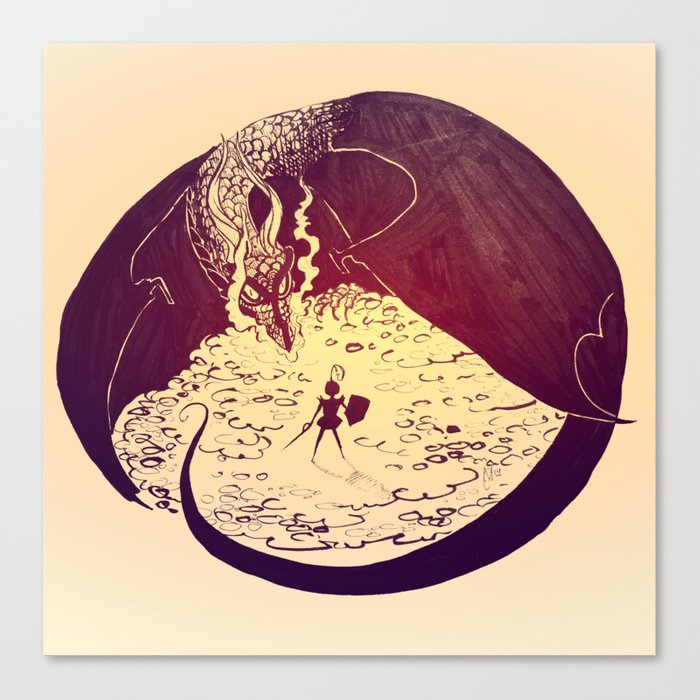 Defensive Dragon Canvas Print